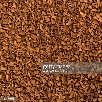 Granule instant coffee background : Stock Photo