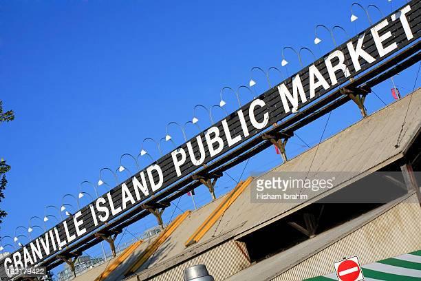 Granville Island public market sign, Vancouver