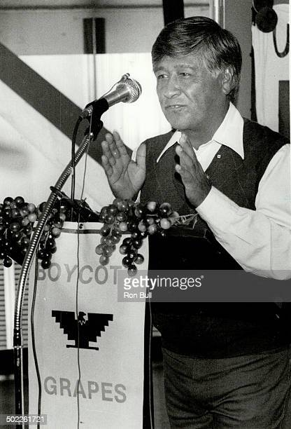Grape boycott United Farm Workers President Cesar Chavez spoke at Toronto City Hall yesterday aksing for a renewal of the boycott against California...