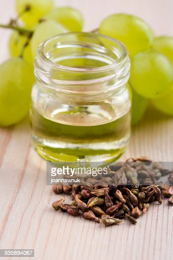grape seed oil : Stock Photo