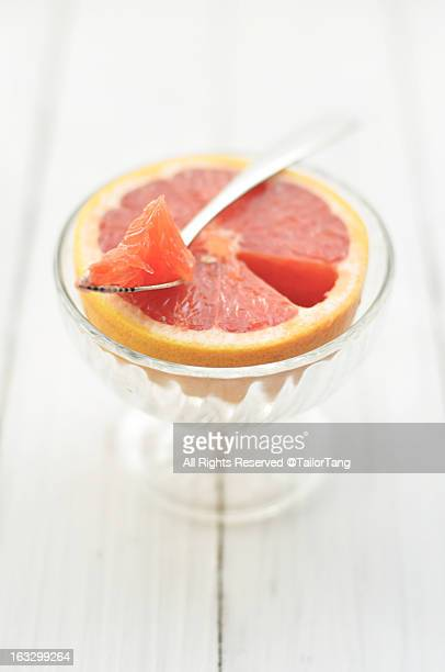 Grapefruit and grapefruit spoon