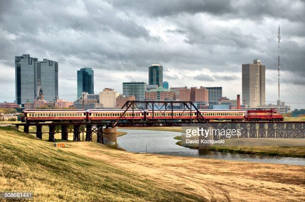Grapevine Texas Vintage Tarantula Railway Fort Worth Texas Train Skyline
