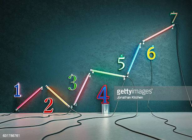 Graph neon tubes with numbers