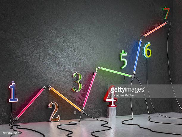 Graph neon with numbers