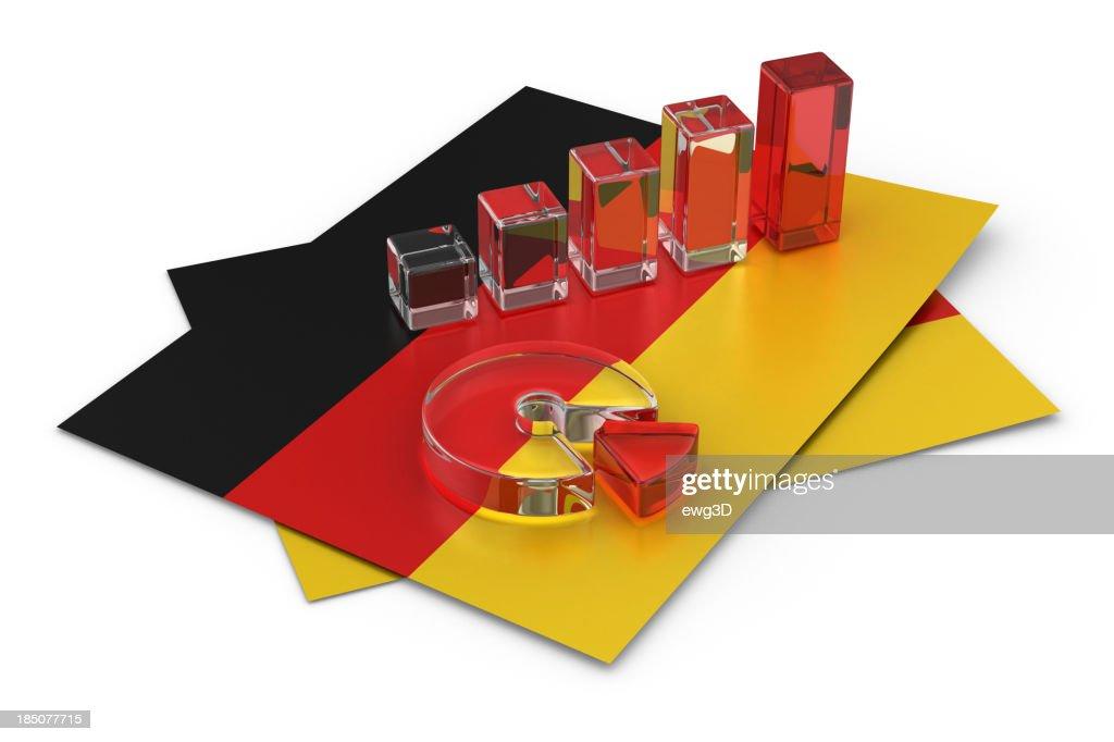 Graph on the German flag
