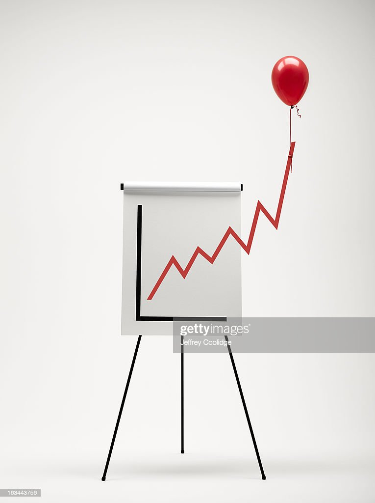 Graph with Balloon : Stock Photo