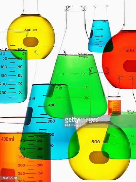 Graphic chemistry glassware