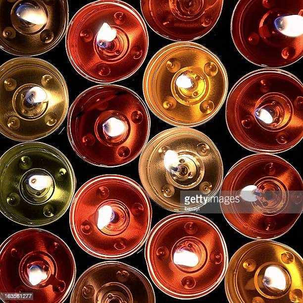Graphic colorful candles