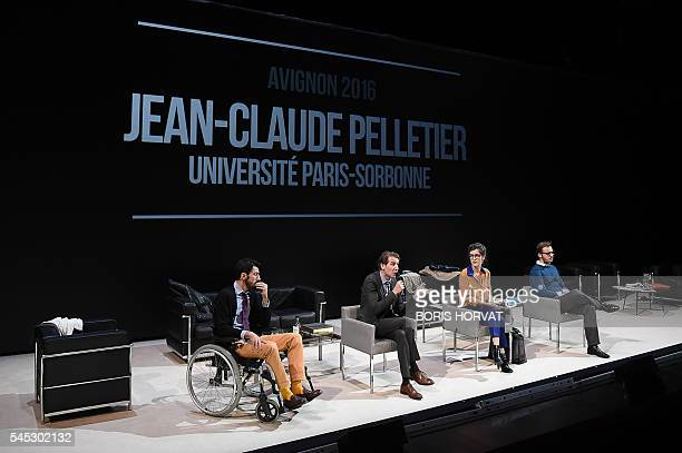 Graphic content / French actors Joseph Drouet Denis Eyriey Noemie Gantier and Antoine Ferron from the collective 'Si vous pouviez lecher mon coeur'...