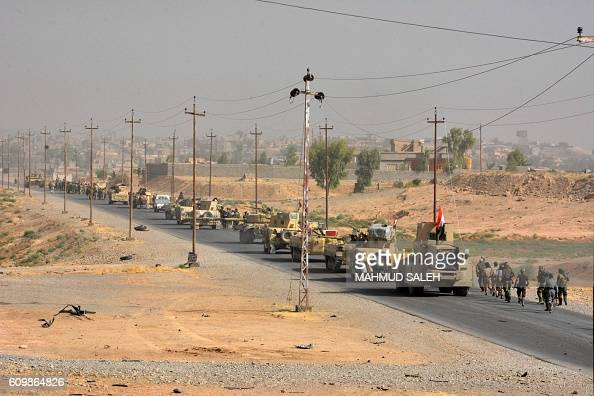 Graphic content / Iraqi troops are seen in the town of Sharqat 260 kilometres northwest of Baghdad and around 80 kilometres south of Mosul on...