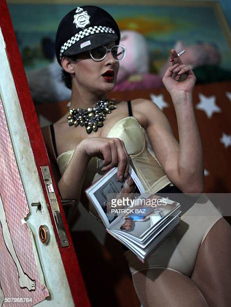 Graphic content / Twentyoneyear old Lebanese transgender makeup artist Toy poses for a photo at an art studio in a popular neighbourhood of Beirut on...