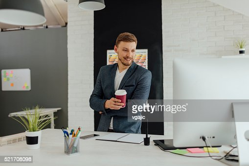 Male Interior Designers At Work graphic designer at work stock photo | getty images