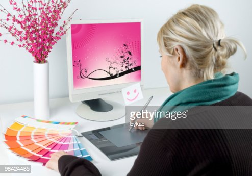Graphic designer : Stock Photo