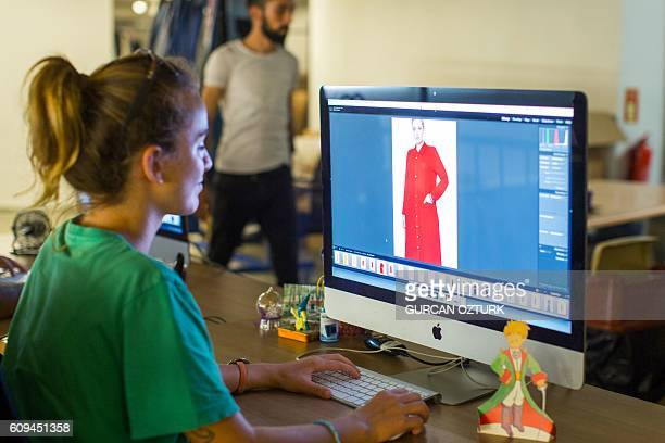 A graphic designer prepares pictures on her computer on September 6 2016 Istanbul Istanbul positioning itself to become a hub in the nascent industry...