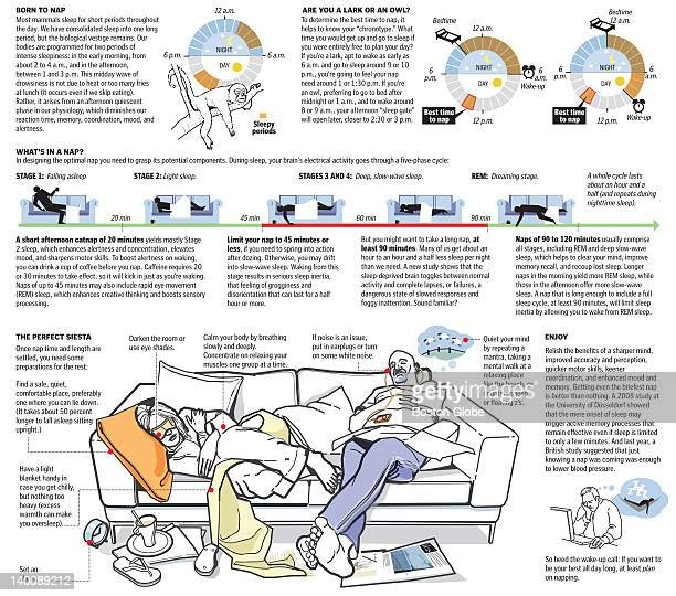 Graphic detailing how and when to nap