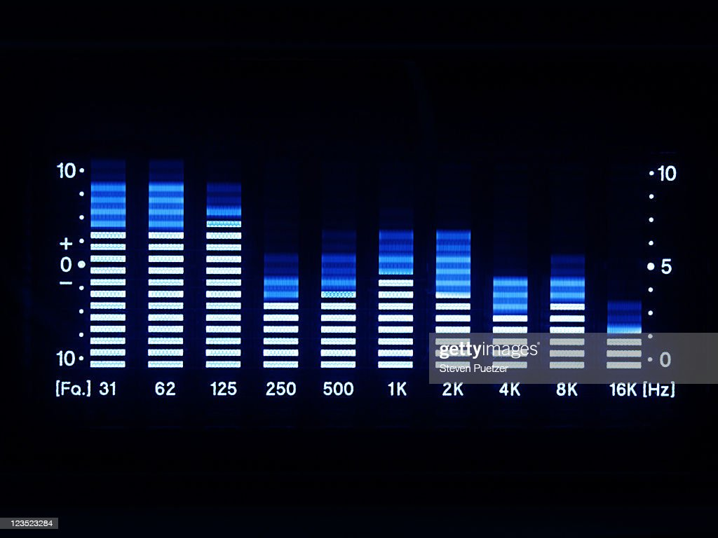 Graphic equalizer LED lights : Stock Photo
