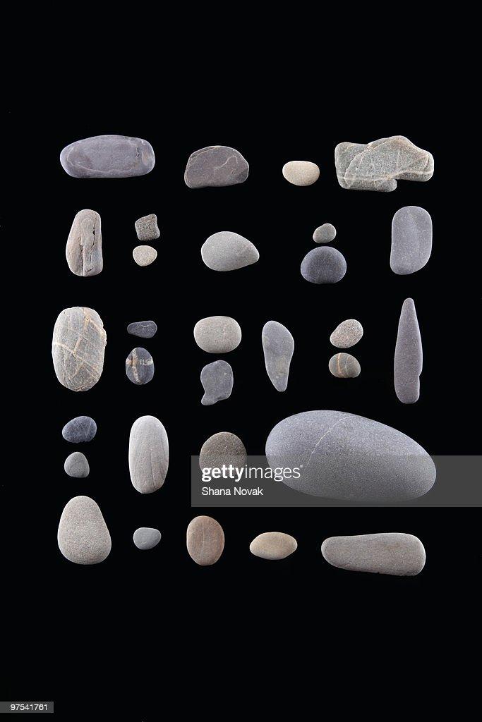 Graphic Gray Rocks : Stock Photo