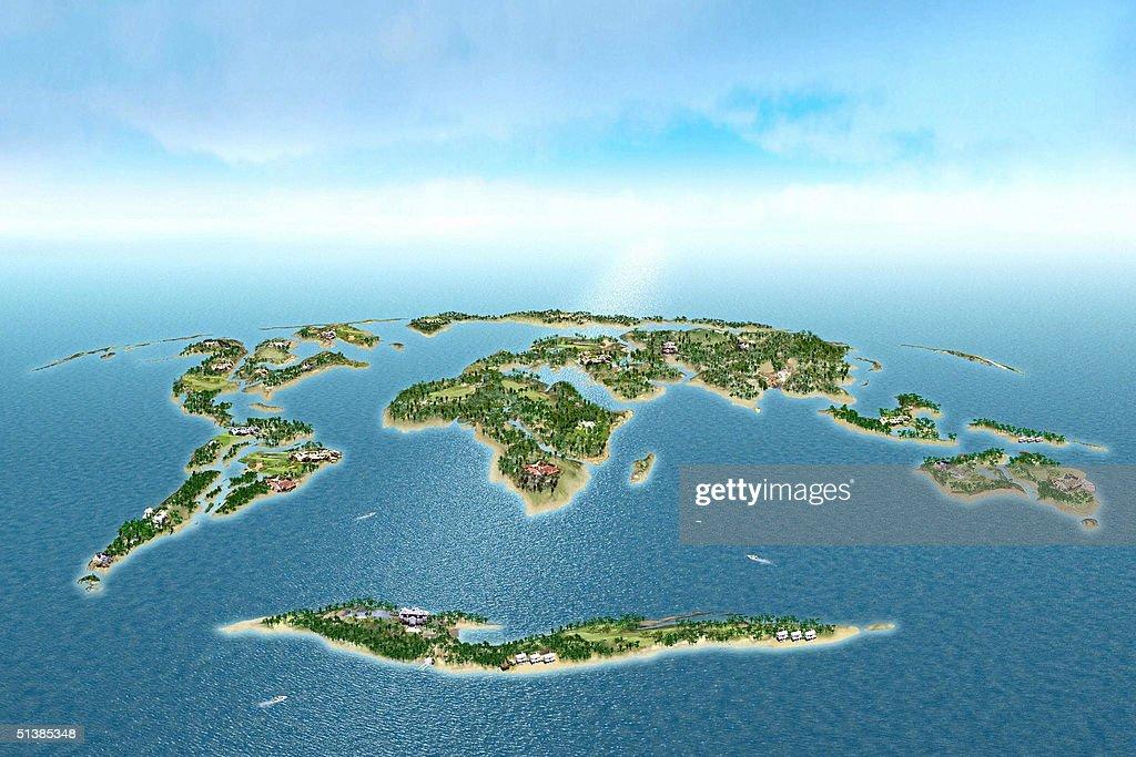 UAEDUBAITOURISM A graphic image shows a cluster of 300 islands