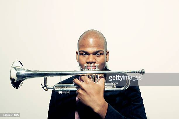Graphic portrait of trumpet player