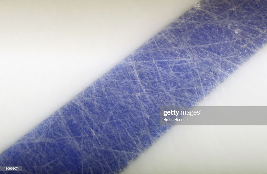 A graphic view of the ice surface prior to the game between the Philadelphia Flyers and the New York Rangers at the Wells Fargo Center on September 17, 2013 in Philadelphia, Pennsylvania.