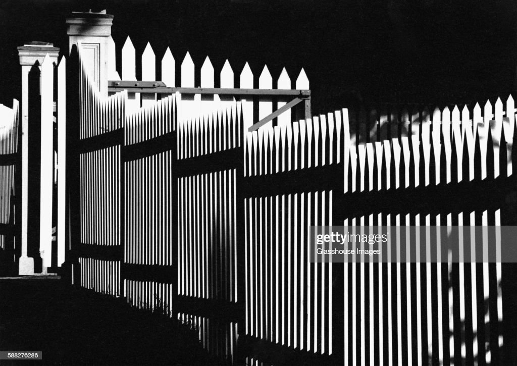 Graphic White Picket Fence