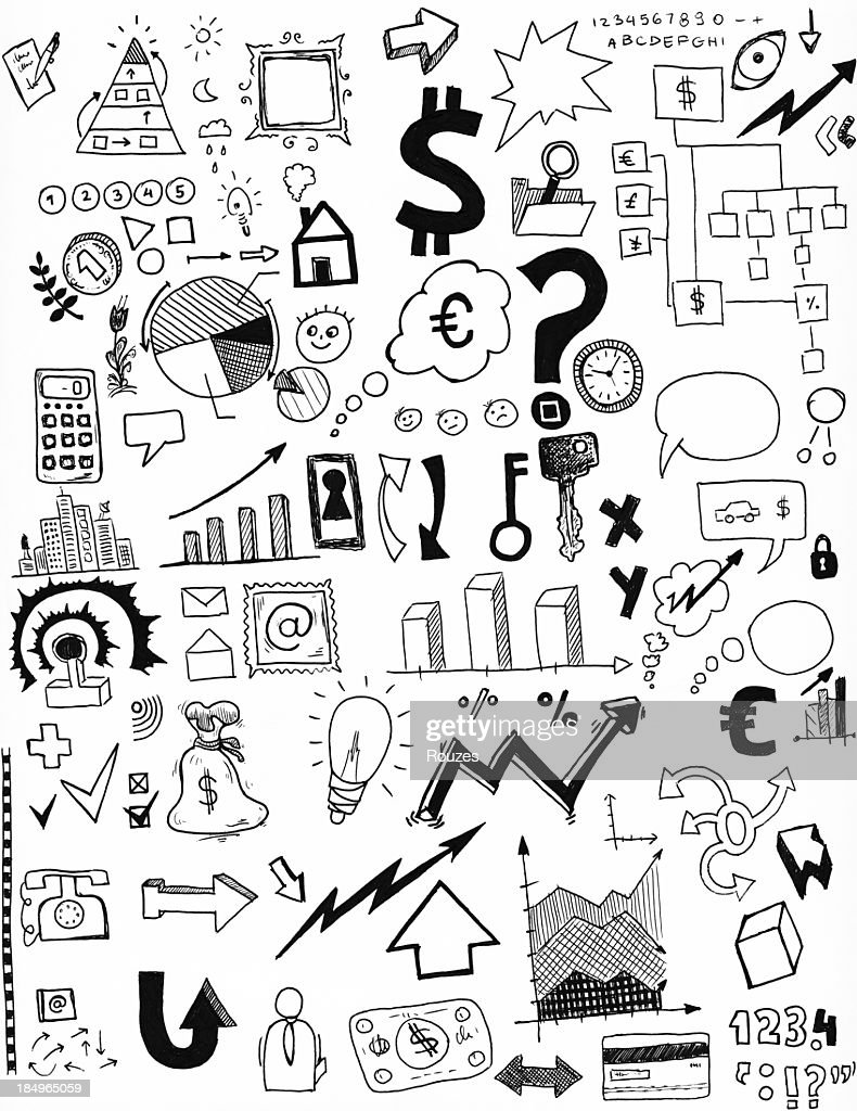Graphics and more hand-drawn illustrations : Stock Photo
