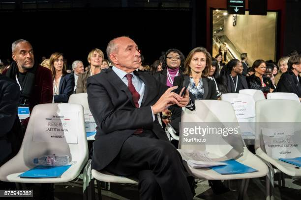 Gérard Collomb arrive at the meeting the council of the Republic on the Move party at Eurexpo Lyon France on November 18 2017 Christophe Castaner was...