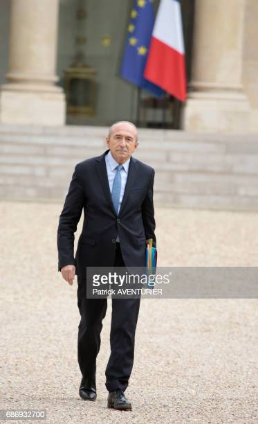 Gérard Collomb France's interior minister arrives for a cabinet meeting at the Elysée Palace in Paris France on May 18 2017
