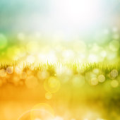 Nice bright and fresh spring background with bokeh effects