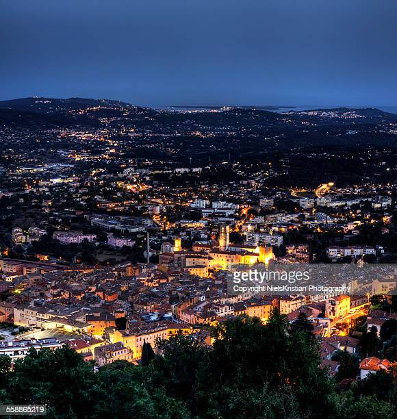 Grasse at night Provence C?te d'Azur France