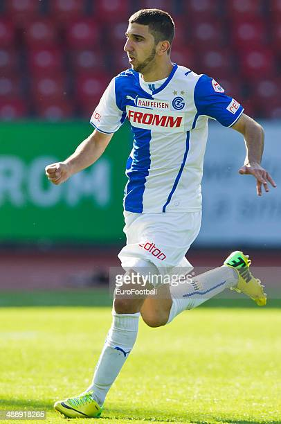 Grasshopper Club forward Munas Dabbur in action during the Swiss Super League football match between Grasshopper Club and BSC Young Boys held at the...