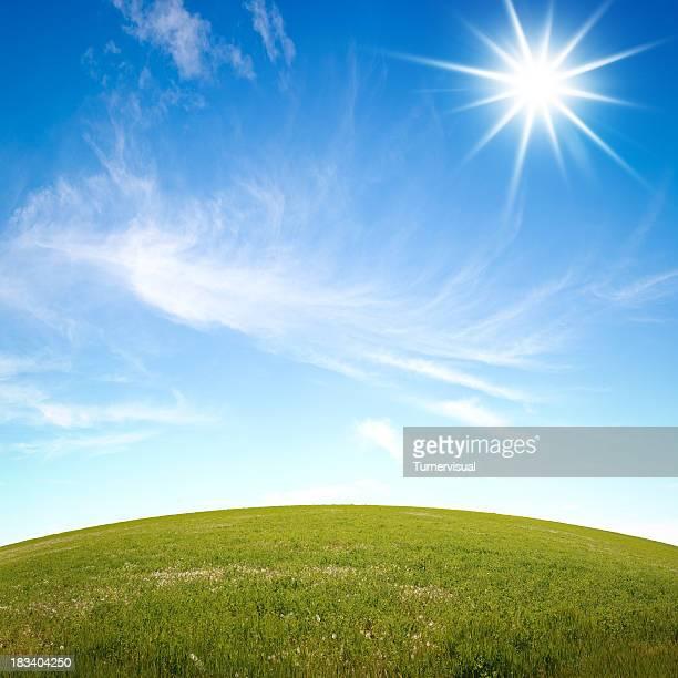 Grassy Hill & Sunny Sky