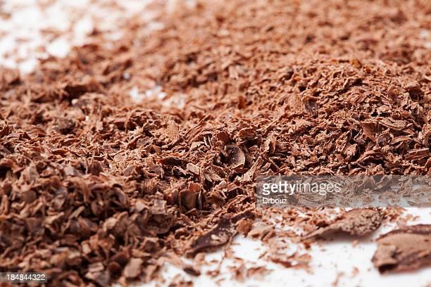 Geriebener Schokolade