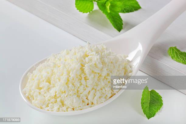 Grated cottage cheese
