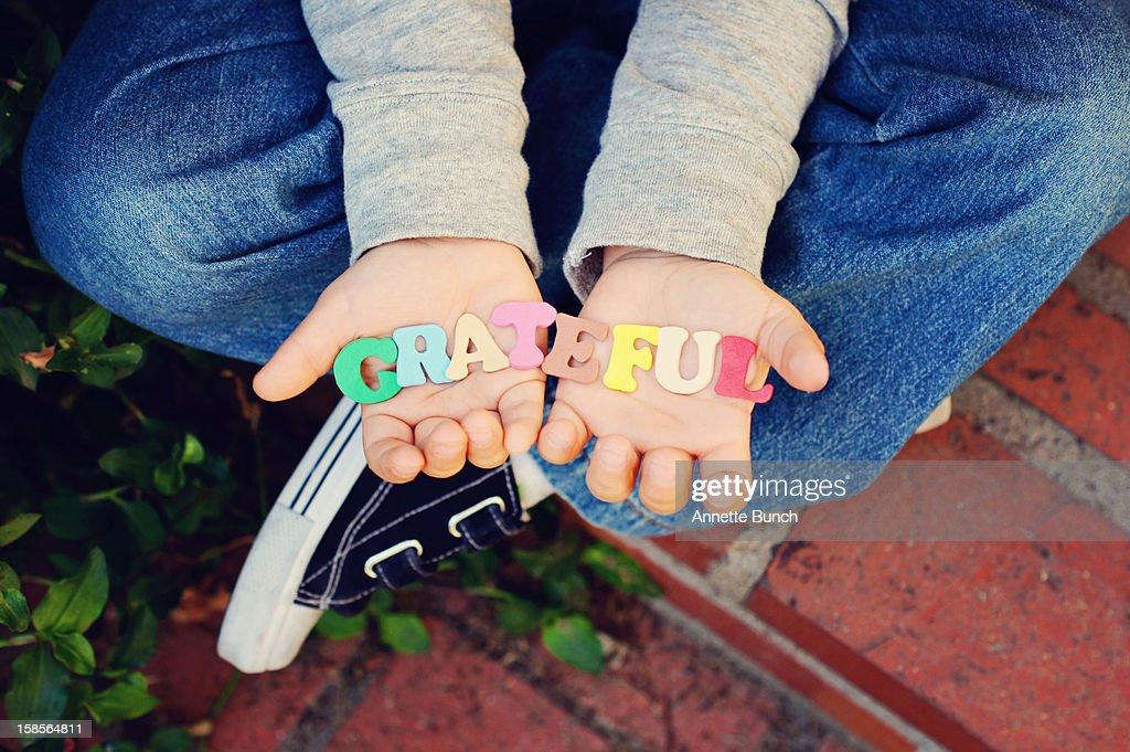 Grateful Child Hands