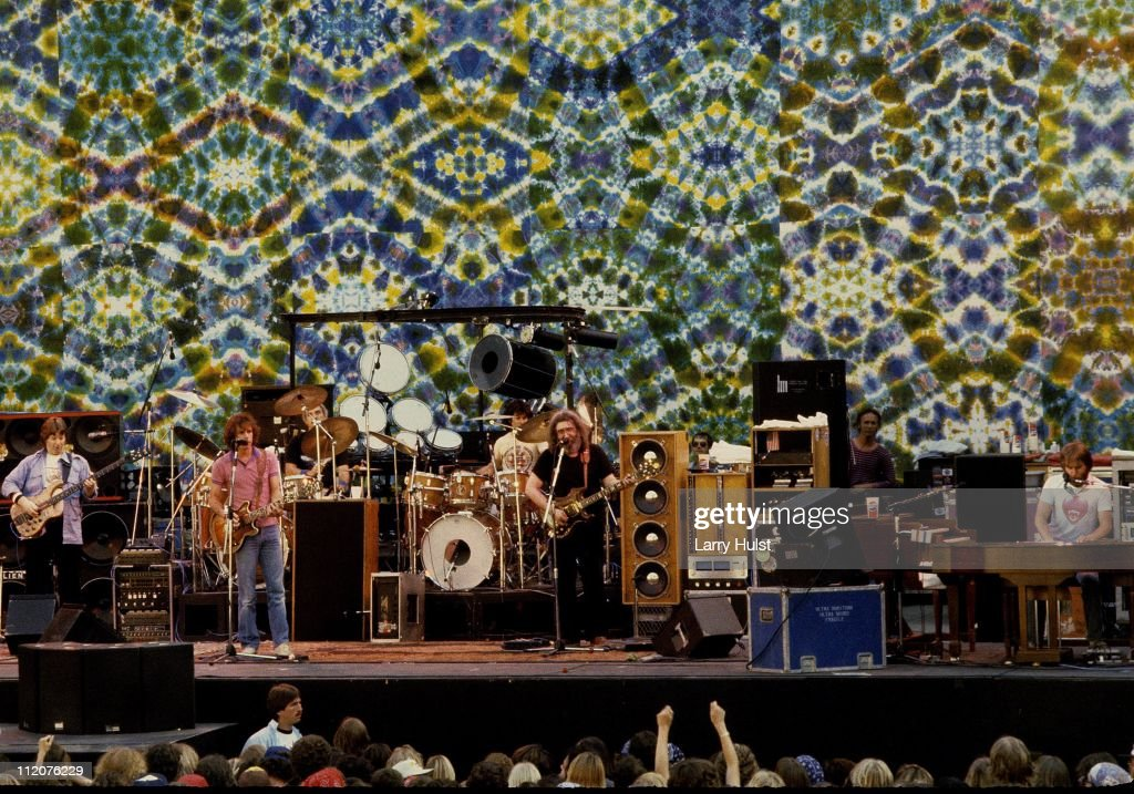 Grateful Dead performing at The Greek theater in Berkeley, California on May 13, 1983.