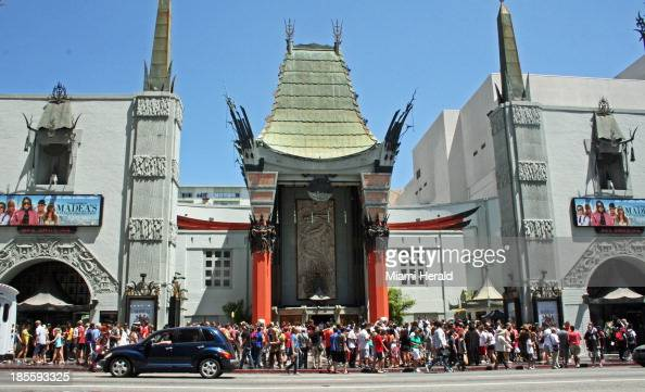 Grauman's Chinese now named TCL Chinese Theatre has drawn tourists and local celeb watchers since it opened in 1927 in Los Angeles California