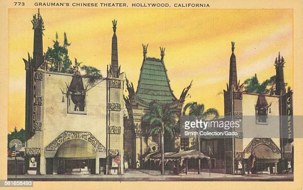 Graumans Chinese Theater Hollywood California 1945