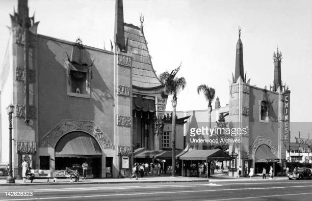Grauman's Chinese Theater on Hollywood Blvd Hollywood California 1940s