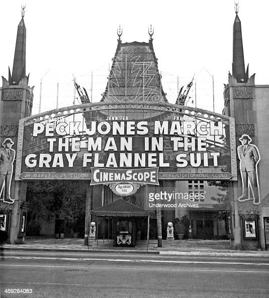 Grauman's Chinese Theater on Hollywood Boulevard Hollywood California 1956