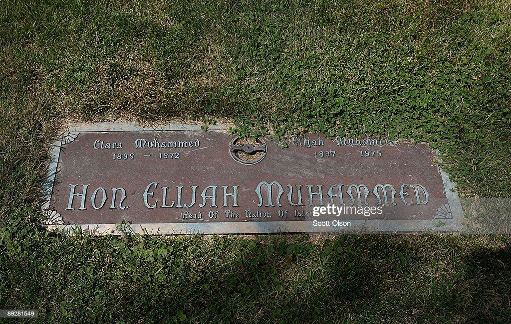 A Grave Marker Marks The Of Nation Leader Hon Elijah Muhammed At