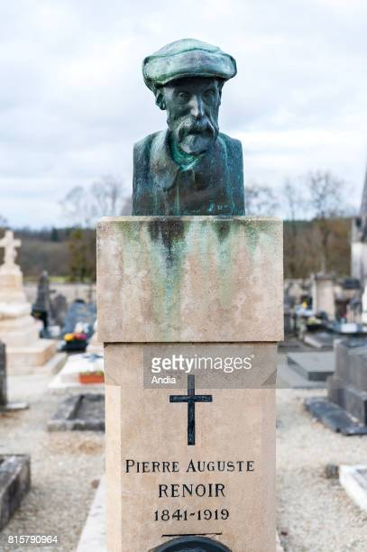 Grave of PierreAuguste Renoir and his two sons at the cemetery of Essoyes