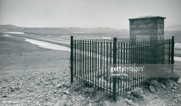 Grave Stands Vigil Over Wyoming Plains Grave of Clement S Bengough overlooks Interstate 80 and Wyoming prairie 29 miles northwest of Laramie Plaque...