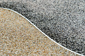 gravel surface texture background, two difference color, dark and gold, yin-yang concept