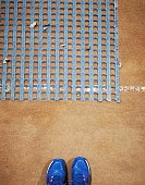 gravel tennis court POV