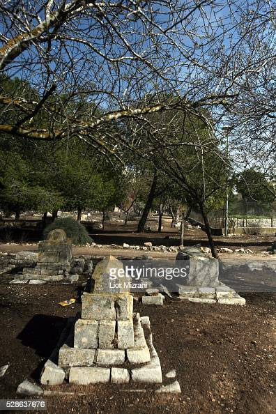 Graves in a Muslim cemetery located near Mamilla in central Jerusalem Israel February 10 2010