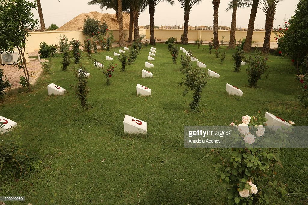 Graves in the Ottoman Turkish Martyrs cemetery are seen during the ceremony held for 100th anniversary of the Kut al-Amara victory against the British, in Kut, Iraq on April 29, 2016.