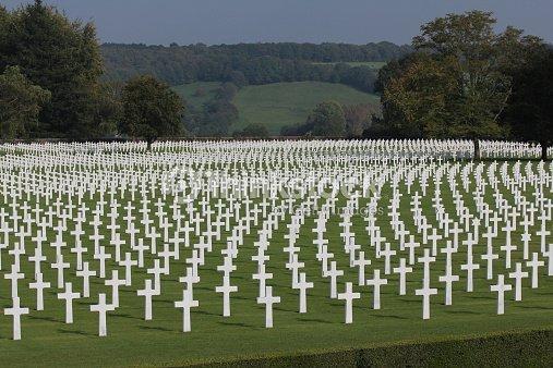 Graves Of American Soldiers Ww Ii Belgium Stock Photo