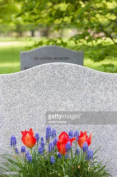 Gravestone in Spring
