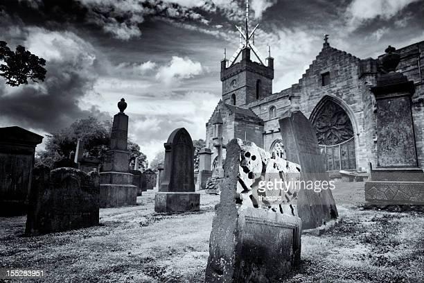 Gravestone With Skull And Crossbones